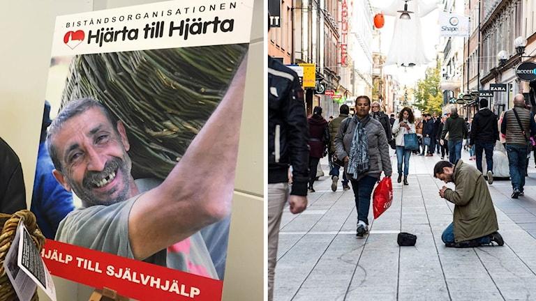 Hjärta till hjärta och tiggare på Stockholms gator