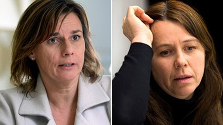 Isabella Lövin biståndsminster och Åsa Romson miljöminster Foto: TT