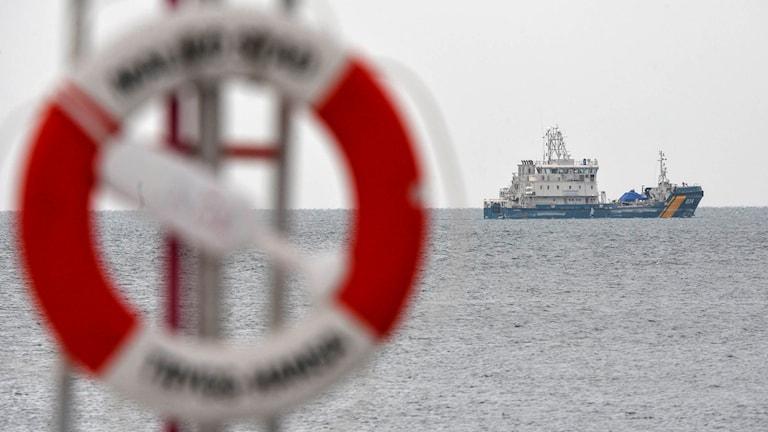 Kustbevakningens båt i Öresund utanför Malmö. Arkivbild.
