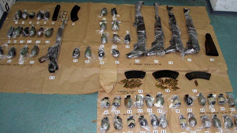vapen handgranater smugglare bosnien