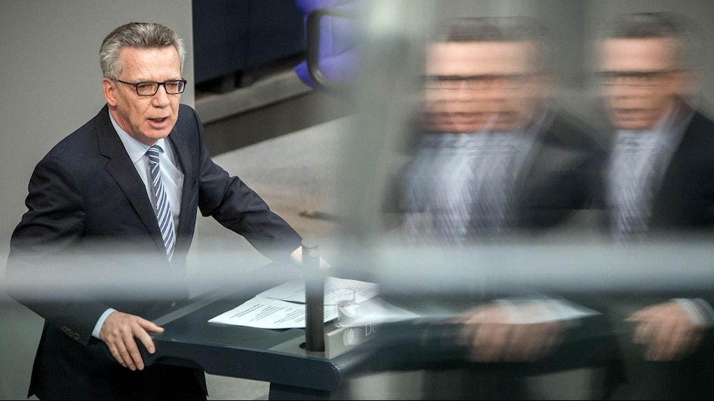 Tysklands inrikesminister Thomas de Maizière.