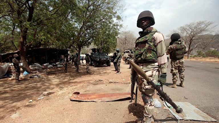 Nigerianska soldater.