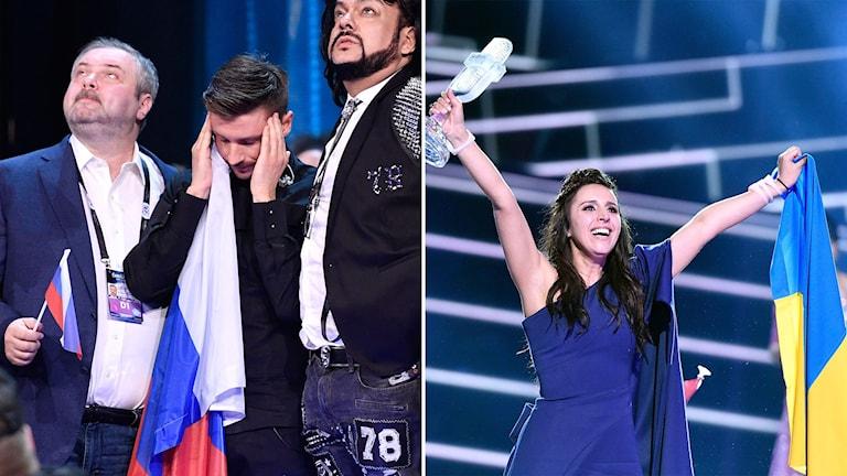 Ukraina vann Eurovision Song Contest och favorittippade Ryssland hamnade på en tredje plats.