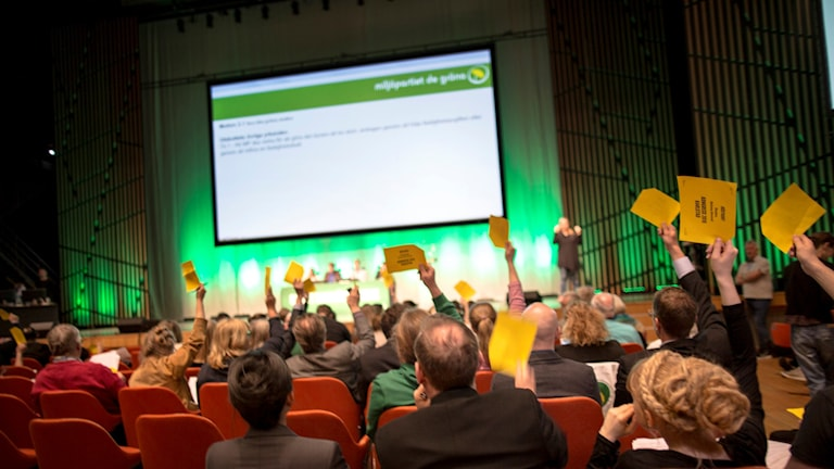 Miljöpartister röstar i Karlstad.