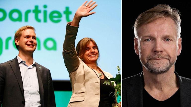 Gustav Fridolin Isabella Lövin och Tomas Ramberg i montage.