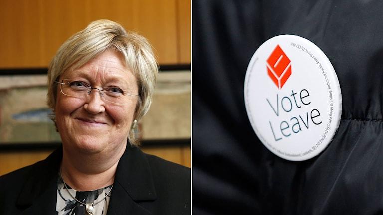 """Norges Europaminister Elisabeth Aspaker säger att hon inte förstår de som pekar på en """"norsk lösning""""."""