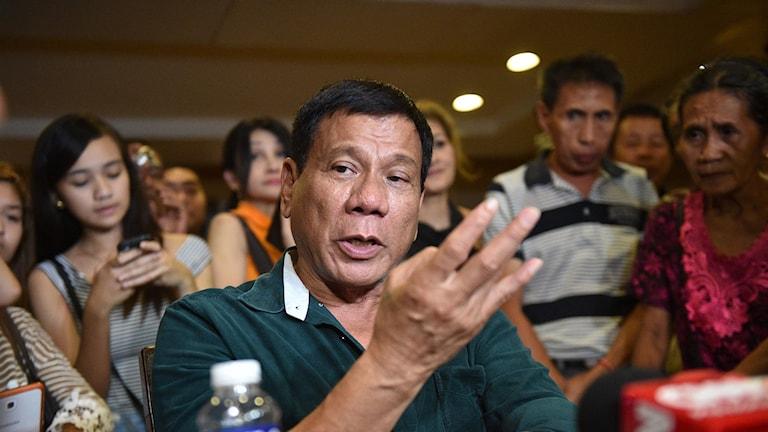 Filippinernas nyvalde president Rodrigo Duterte
