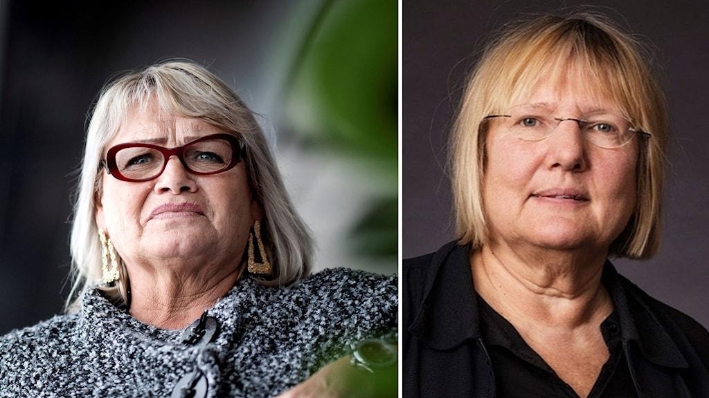Kollage av Soraya Post (Fi) och Ekots Susanne Palme. Foto: Pontus Lundahl/TT och Sveriges Radio
