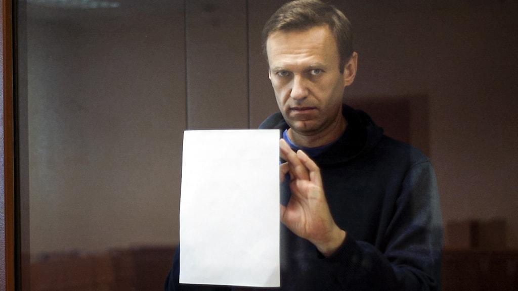 Den fängslade ryske oppositionspolitikern Aleksej Navalnyj.
