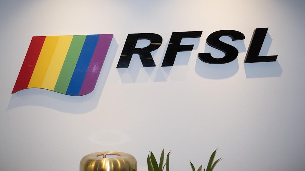 Regnbågsflagga fotograferad på RFSL:s huvudkontor i Stockholm.