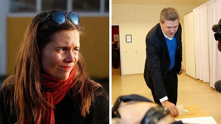 Katrin Jakobsdottir utmanar Bjarni Benediktsson