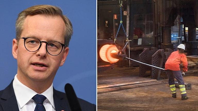 Tullarna skulle slå hårt mot svensk stålindustri, säger näringsminister Mikael Damberg.