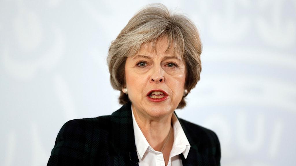 Storbritanniens premiärminister Theresa May.