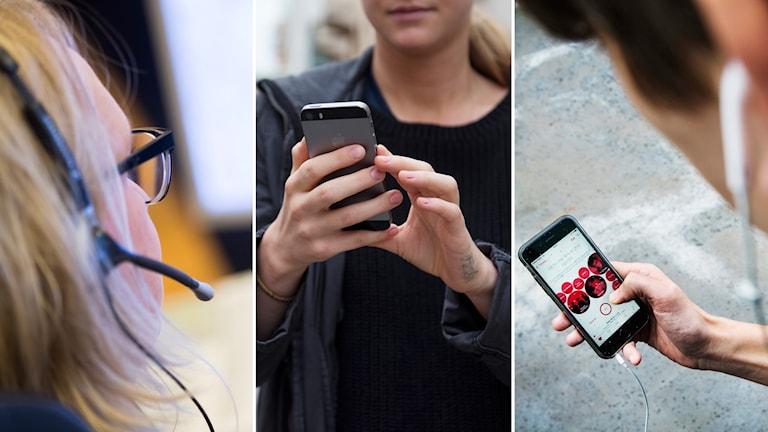 Telefon, mobiltelefon, mobil
