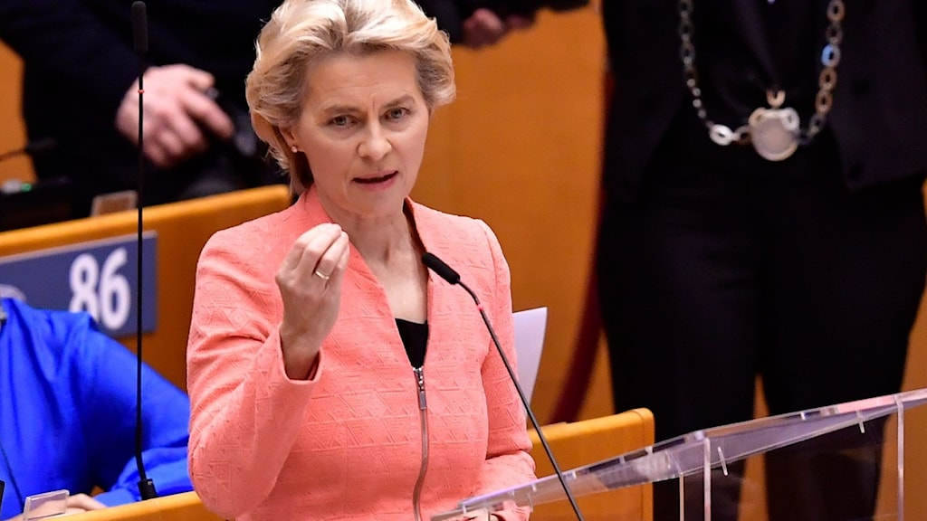 EU-kommissionens ordförande Ursula von der Leyen