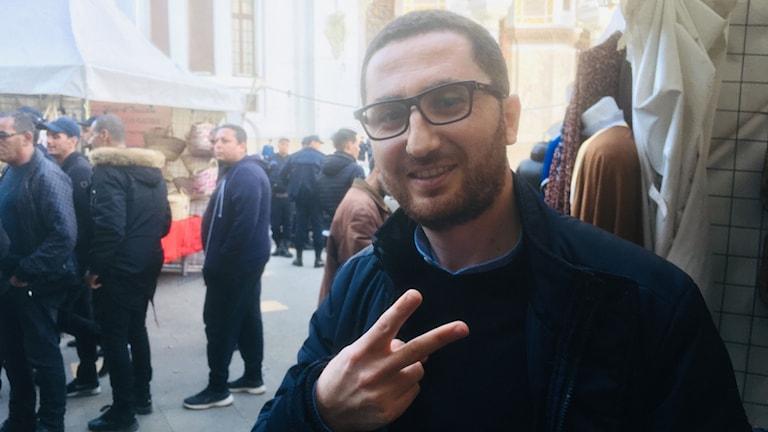 Tarik Merzoik vill ha frihet och demokrati i Algeriet