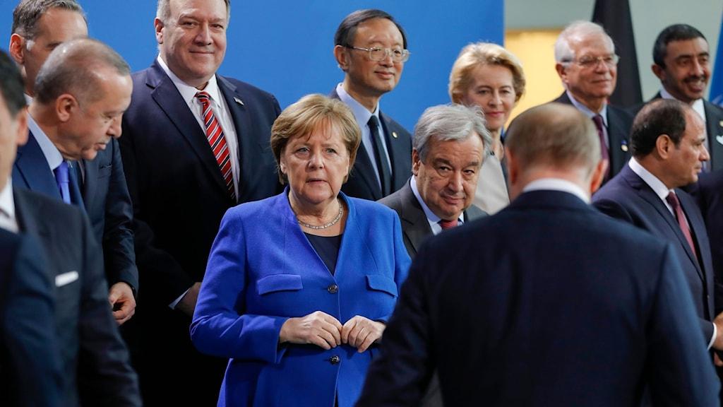 Världsledarna samlas i Berlin för möte om krigshärjade Libyen.