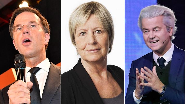 Politiker i Nederländerna ochAgneta Ramberg, utrikespolitisk kommentator