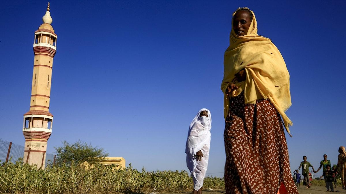 Kvinna på flykt från Tigray