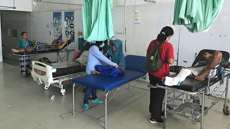 Akutintaget på Ondata sjukhuset i Palu.