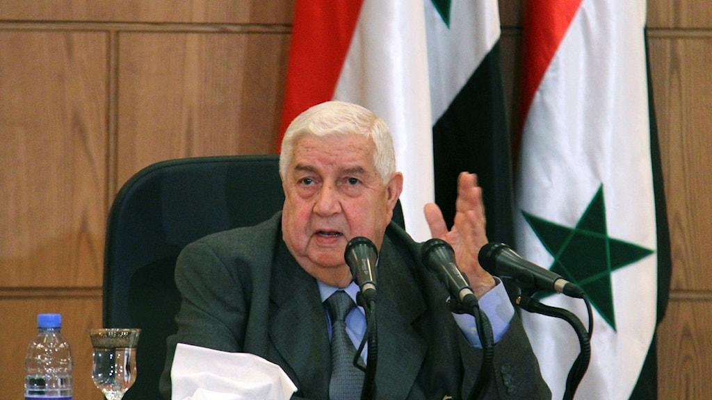 Syriens utrikesminister Walid Moallem.