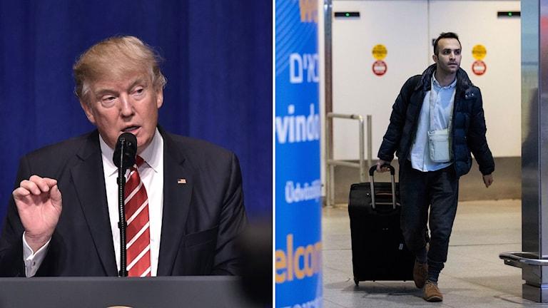 Donald Trump och iransk bioingenjör Nima Enayati