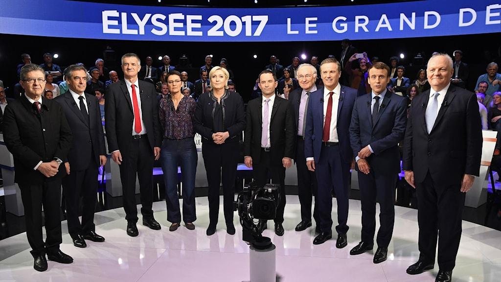 Debatt i fransk tv inför presidentvalet.