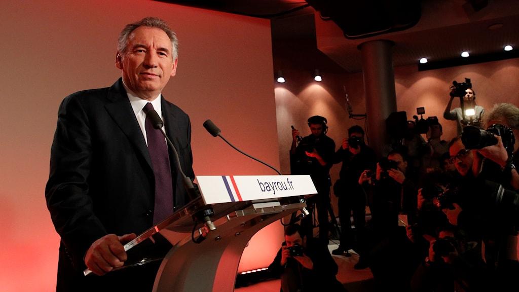 Francois Bayrou. Arkivbild: Christophe Ena/TT.