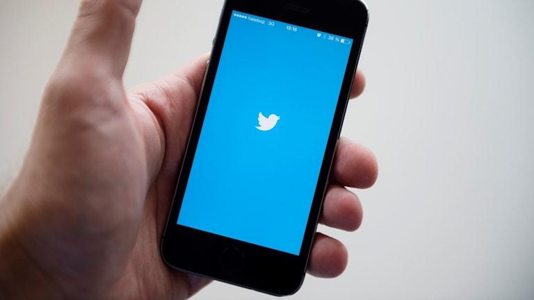 Mobiltelefon med Twitter