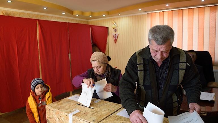 Rumänska medborgare röstar