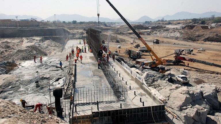 """Arkivbild från 2013. Etiopien vill börja fylla dammen """"The Grand Ethiopian Renaissance Dam"""" om bara två månader."""