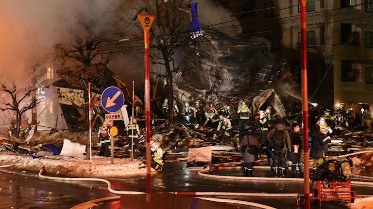 40 skadade i kraftig explosion