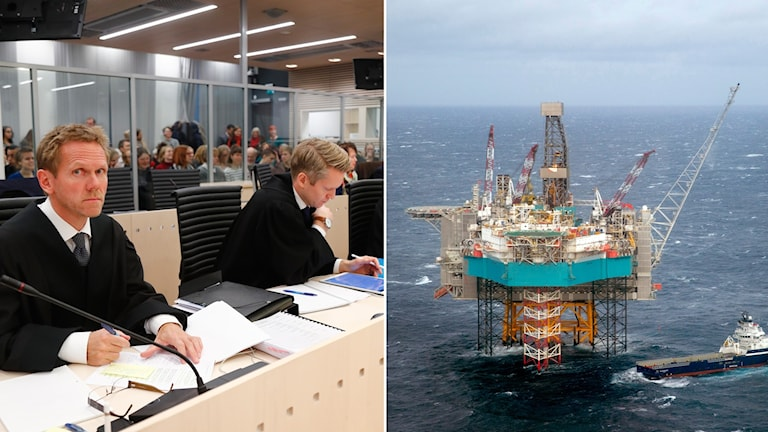 Rättegången i Norge och en genrebild av en oljerig