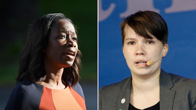 Nyamko Sabuni (L)  och Annika Hirvonen Falk (MP).
