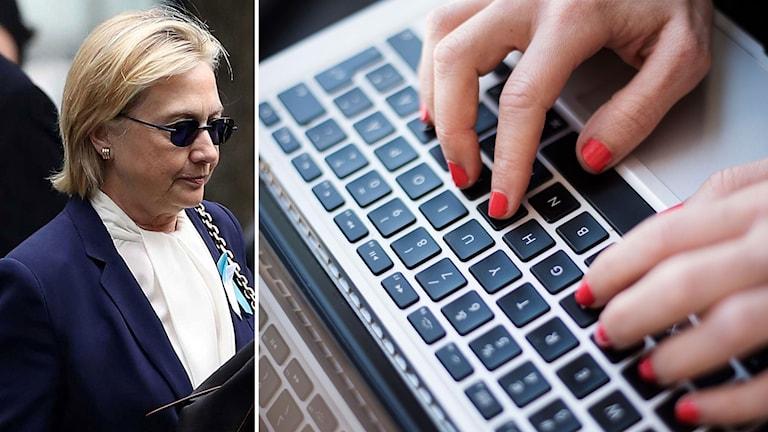 Clinton och en dator