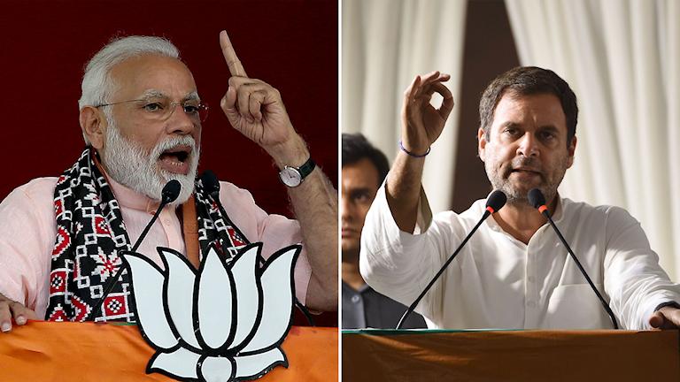 Narendra Modi och Rahul Gandhi