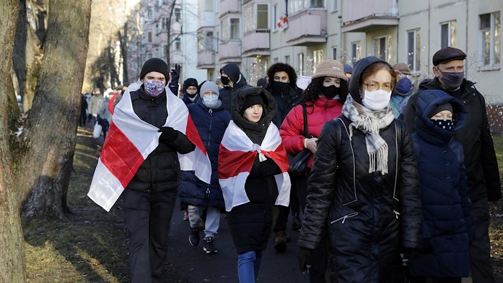Protesterna i Belarus.