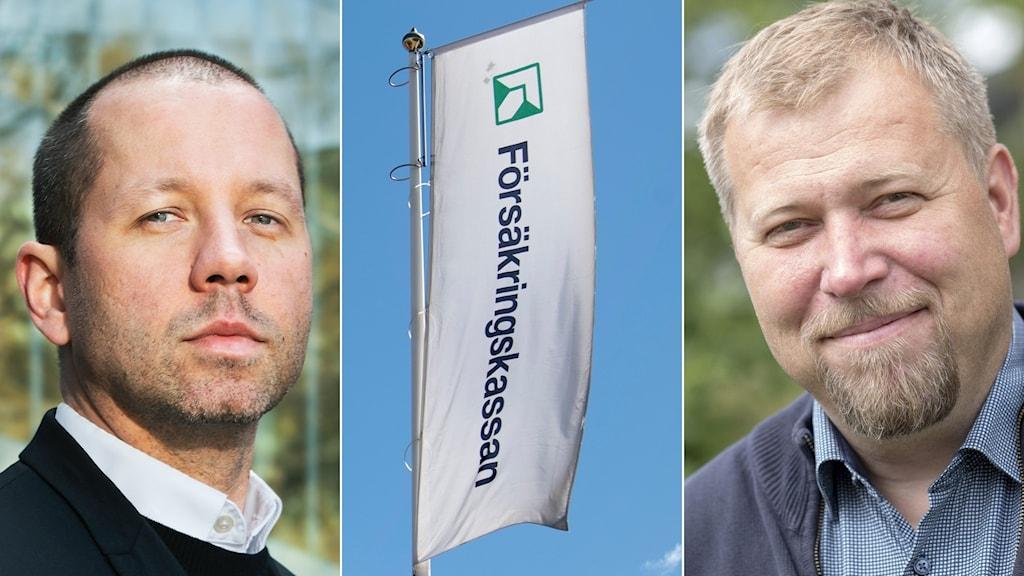 Lektor Sebastian Wejedal, en flagg och Olle Lundin.