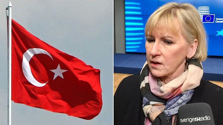 Turkiets flagga Margot Wallström