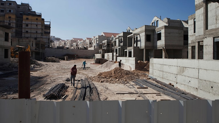 Byggarbete på Västbanken.