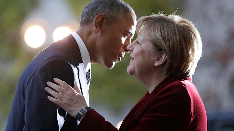 Obama och Merkel