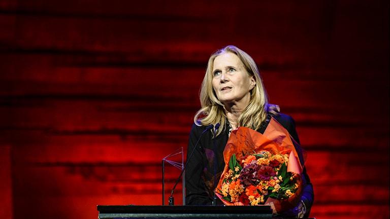 """Den svenska poeten Katarina Frostenson tilldelas Nordiska rådets litteraturpris för diktsamlingen """"Sånger och formler""""."""