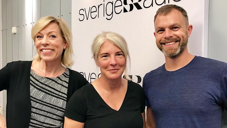Ginna Lindberg, Sara Stenholm Pihl och Ivar Ekman.