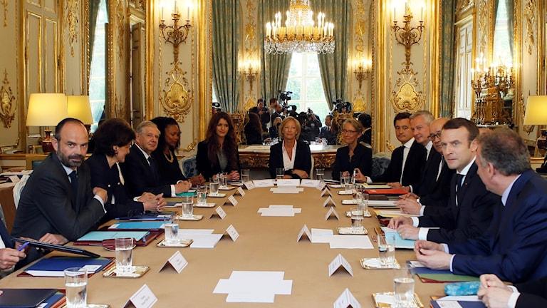 Första mötet för den franska regeringen