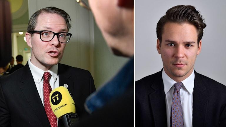 Lars Hjälmered (M) och Lorentz Tovatt (MP).