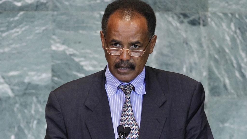 Eritreas president, Isaias Afwerki.