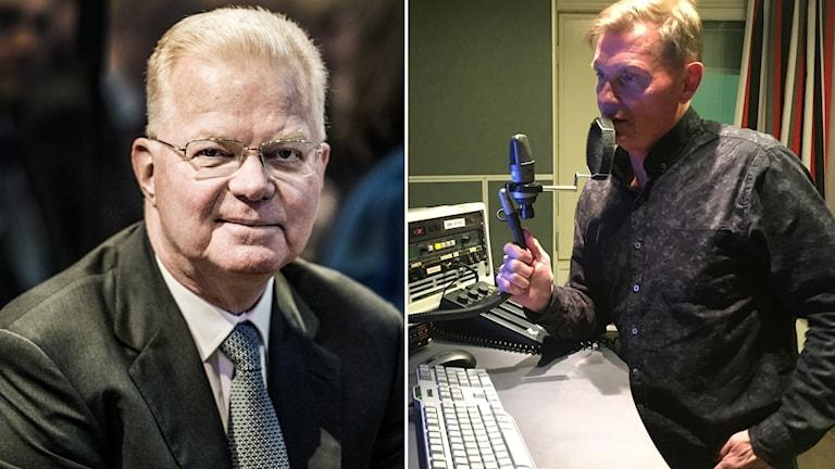 Fredrik Lundberg blir intervjuad av Sören Granath