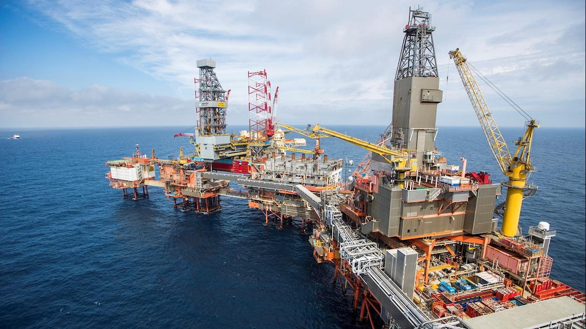 Oljeplattform Norge Olja