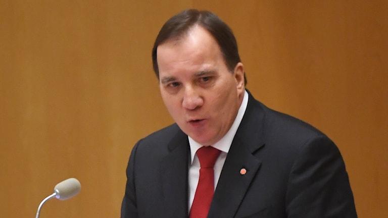 Partiledardebatt Stefan Löfven