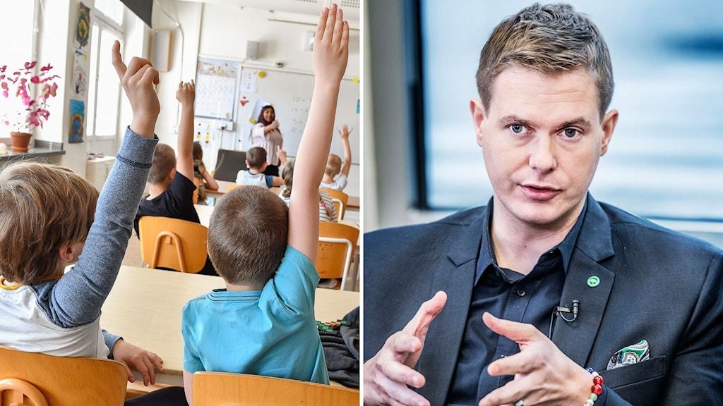 Elever och Gustav Fridolin